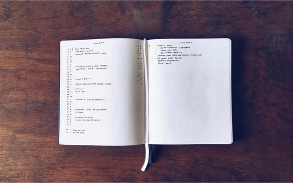 Monthly Log Bullet Journal Examples