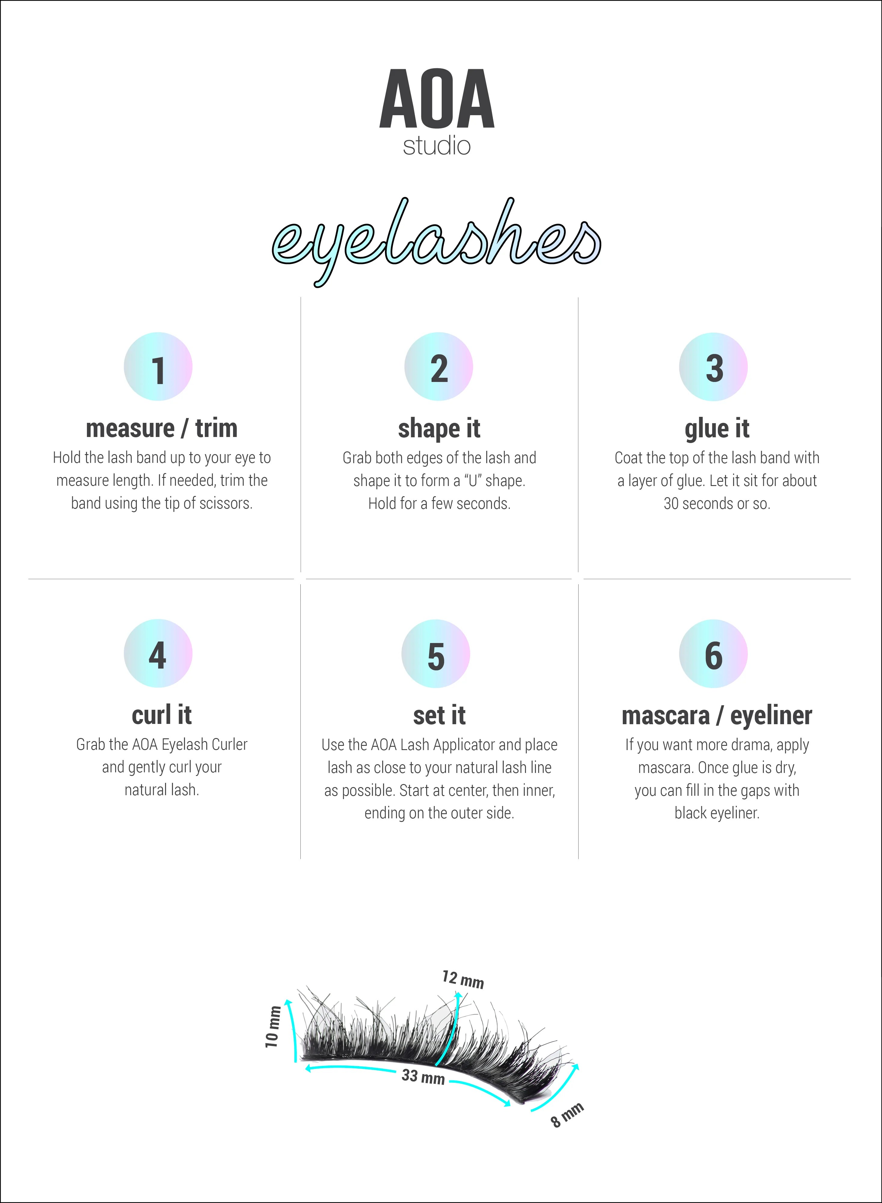 hight resolution of aoa studio eyelashes stella