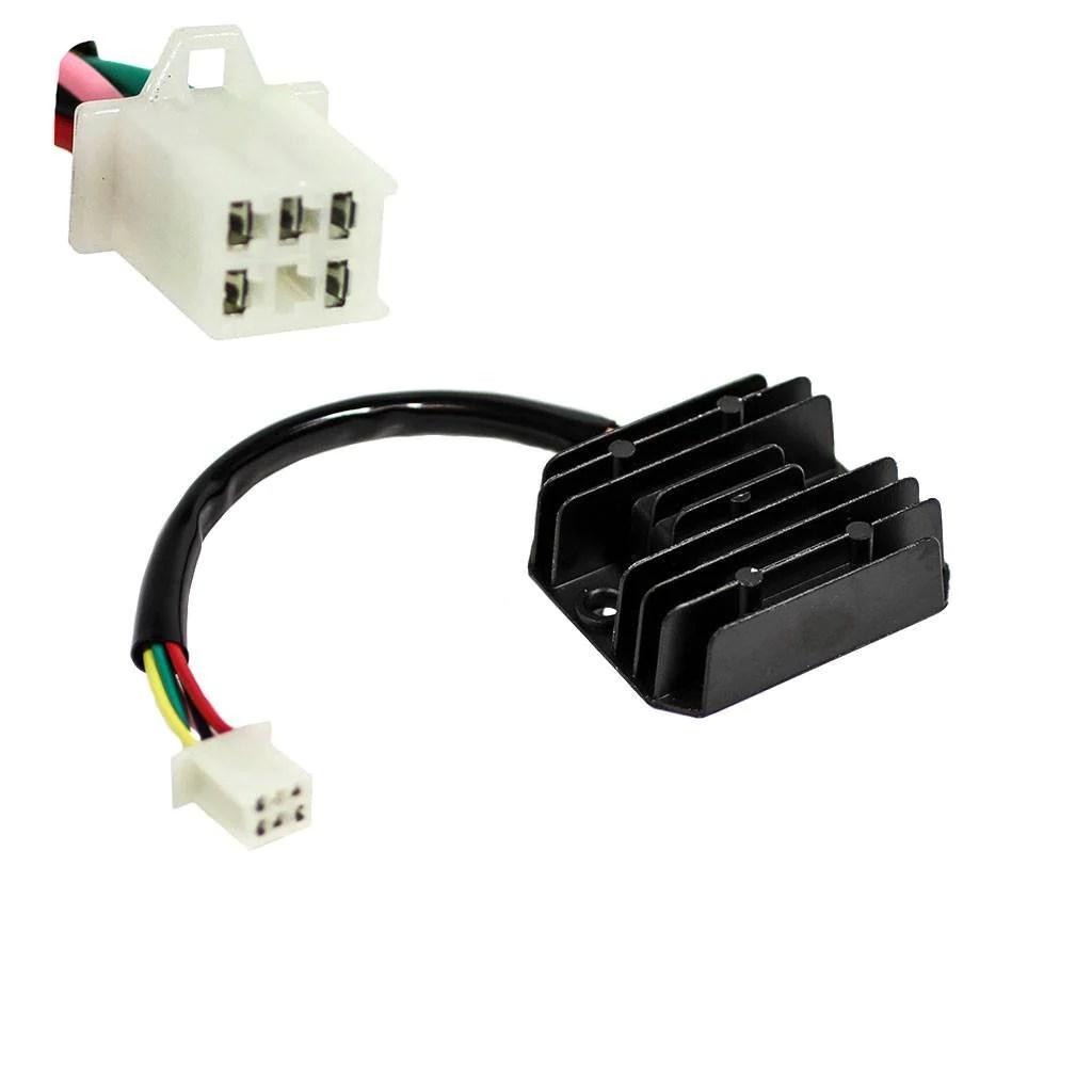 small resolution of  voltage regulator 5 wire 1 plug for 250cc atv version 45 vmc