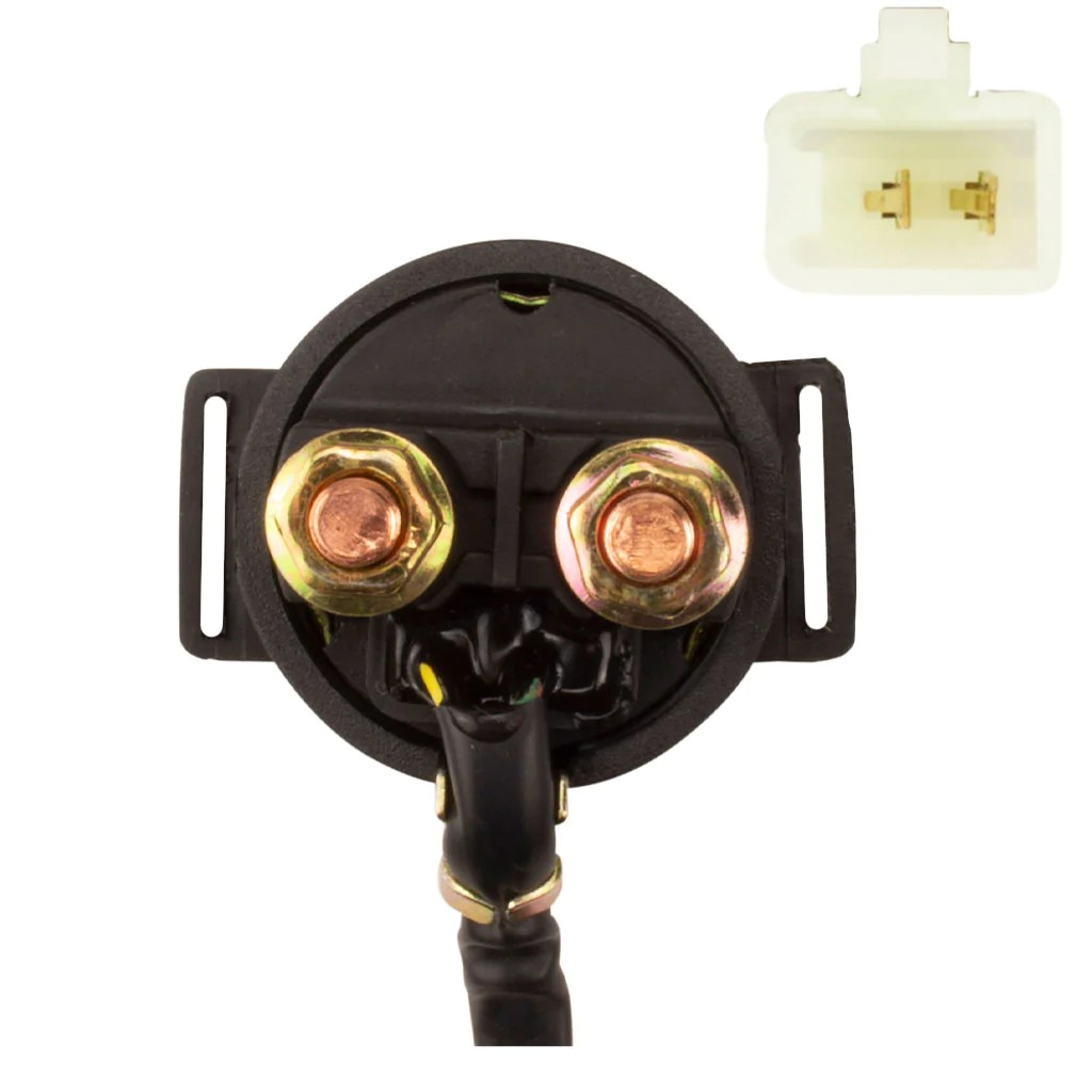 hight resolution of  starter relay solenoid with 2 wire male plug version 21 vmc chinese parts