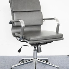 Stylish Office Chairs Uk Chair Mat Home Depot Grey Eames Style Soft Pad  Outlet