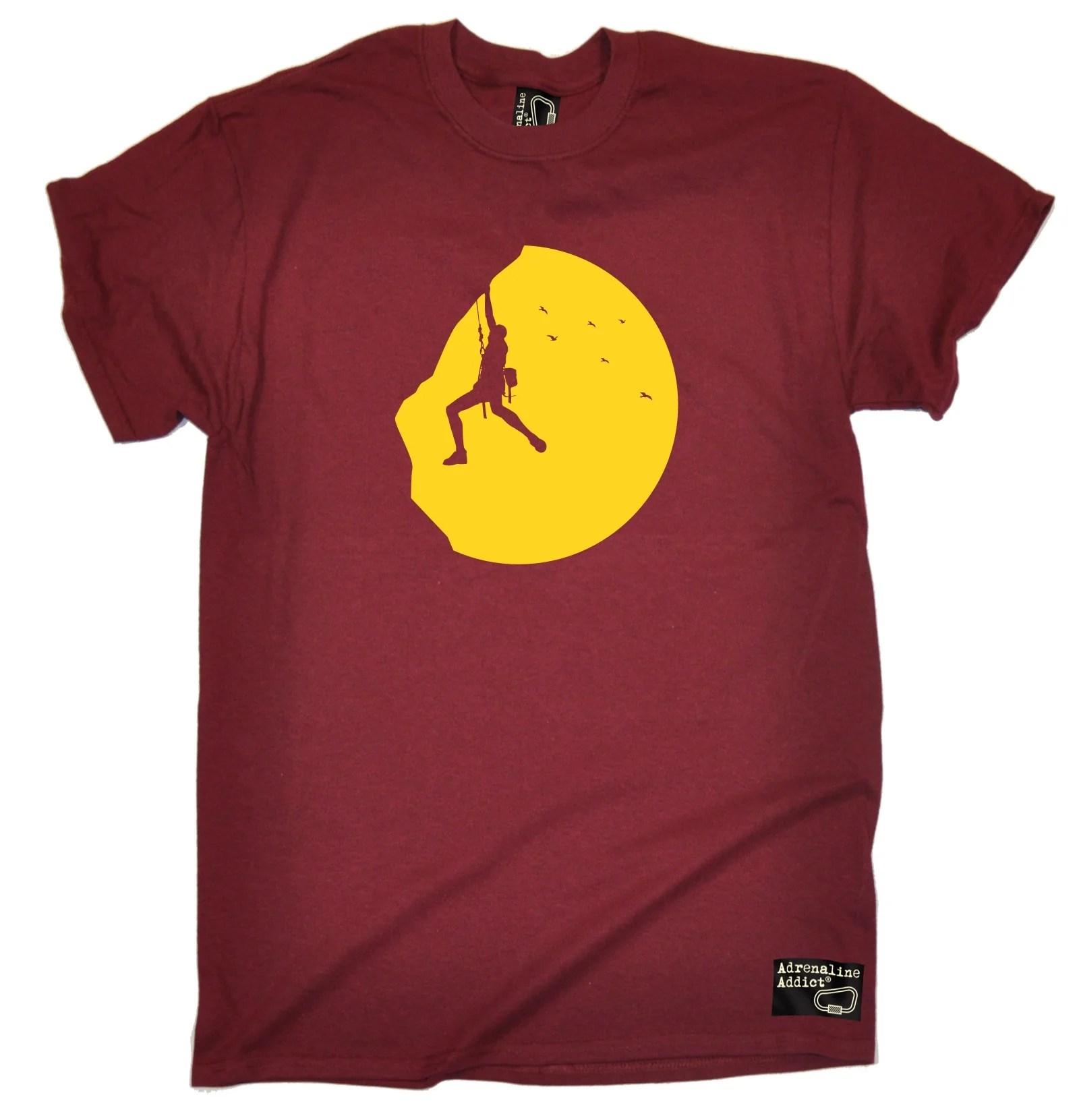 Rock Climbing Sunset T-shirt Tee Climb Gear Accessories Funny Birthday 123t