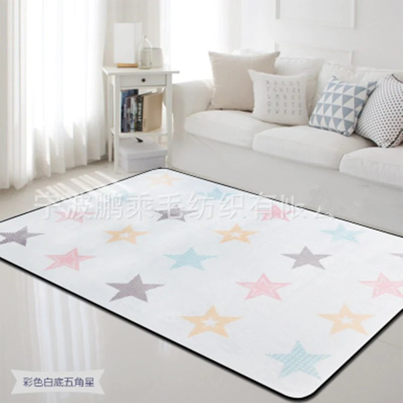 living room floor mats small with fireplace ideas 1 pcs modernity print carpets kids mat child soft crawl large area rugs and