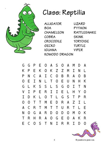 20 Word Searches for Kids  PRINTABLE PDF  Puzzles to Print