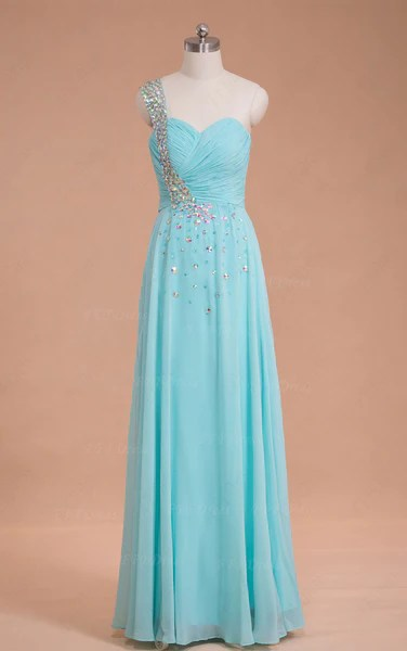 Light blue crystals long prom dresses  MyPromDress