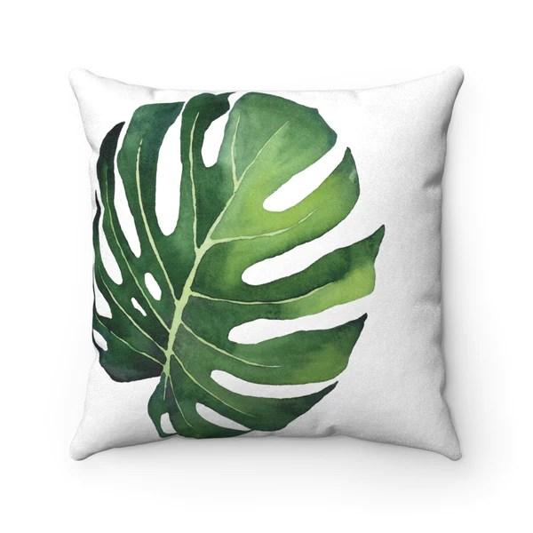 monstera leaf tropical print