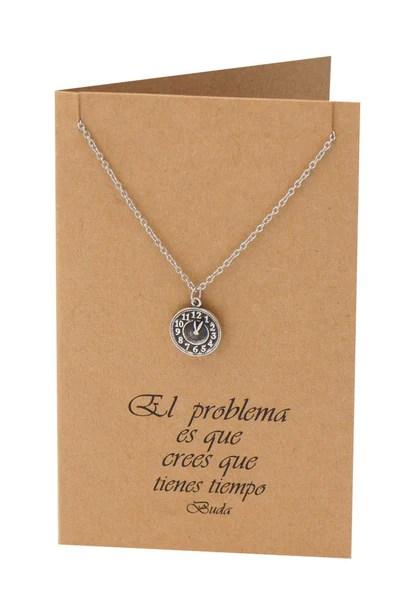 Ines Clock Necklace Inspirational Jewelry Spanish Buddha