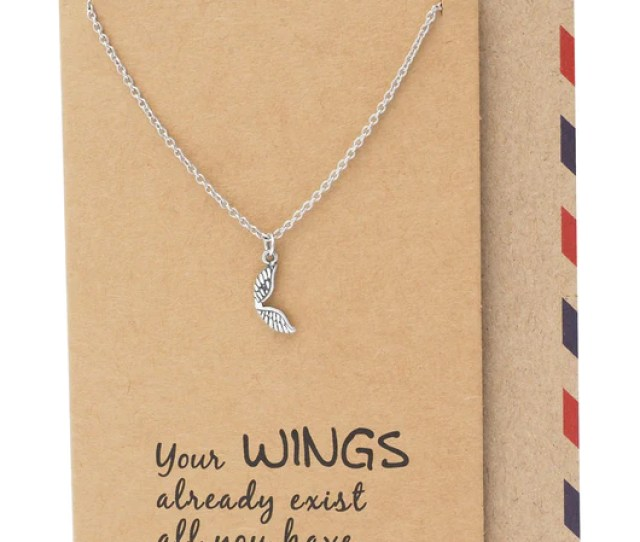 Adannaya Graduation Gifts For Her Wing Necklace Graduation Jewelry Quan Jewelry