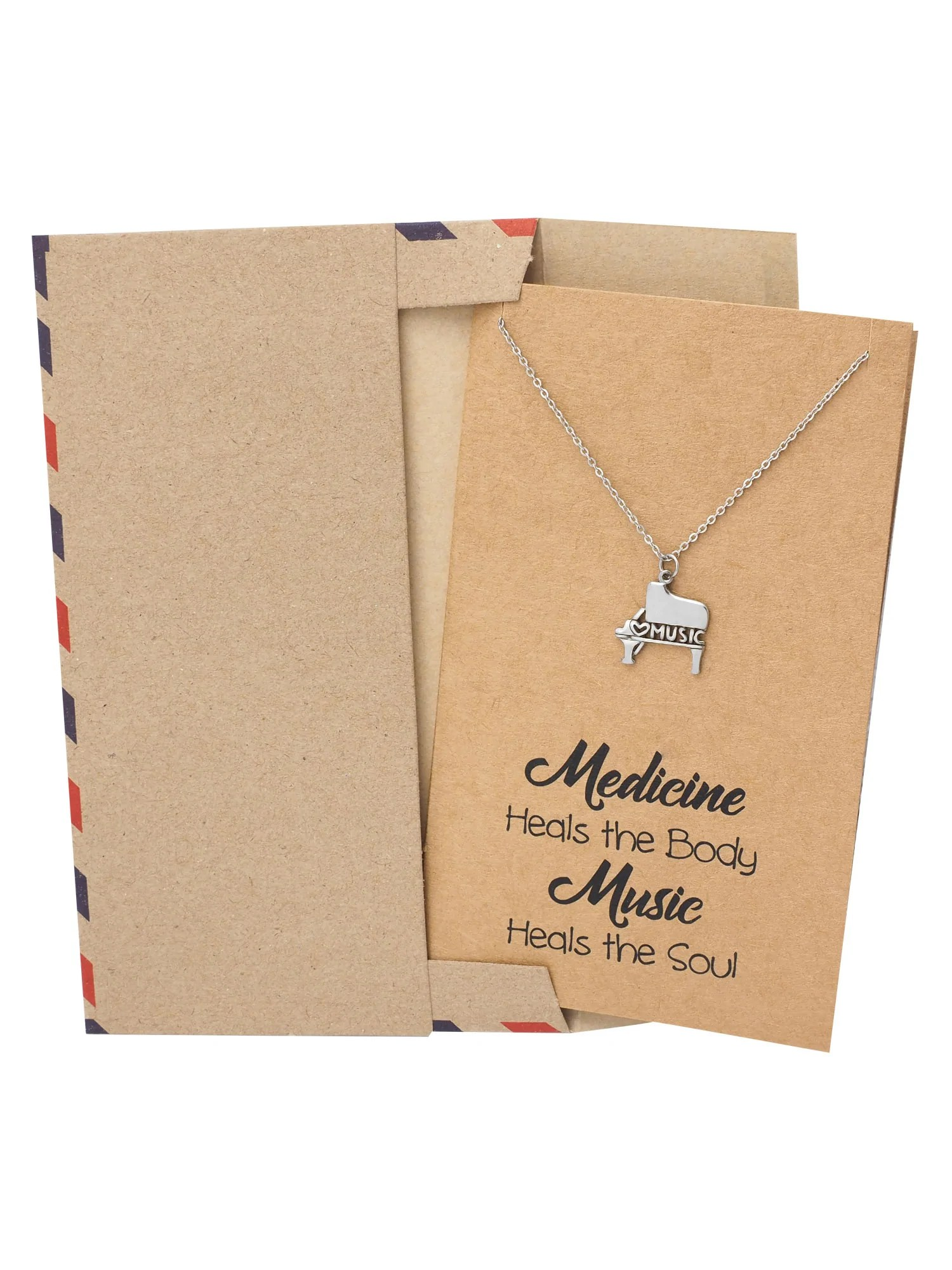 Quinzel Birthday Gifts Music Necklace Gifts For Music