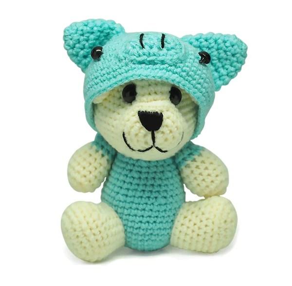 Rex Piggy Crochet Teddy Bear Handmade Teddy Bears Quan