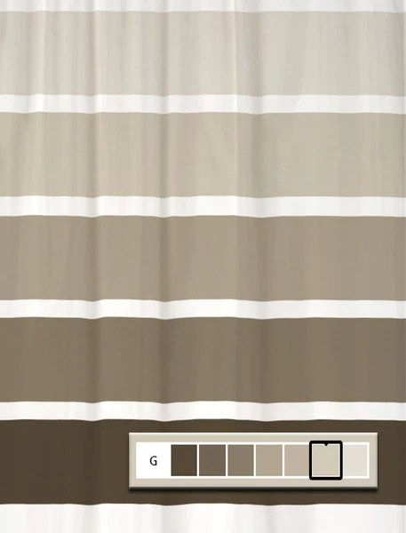 Shower Curtain Rugby Stripe You Choose Colors And Size