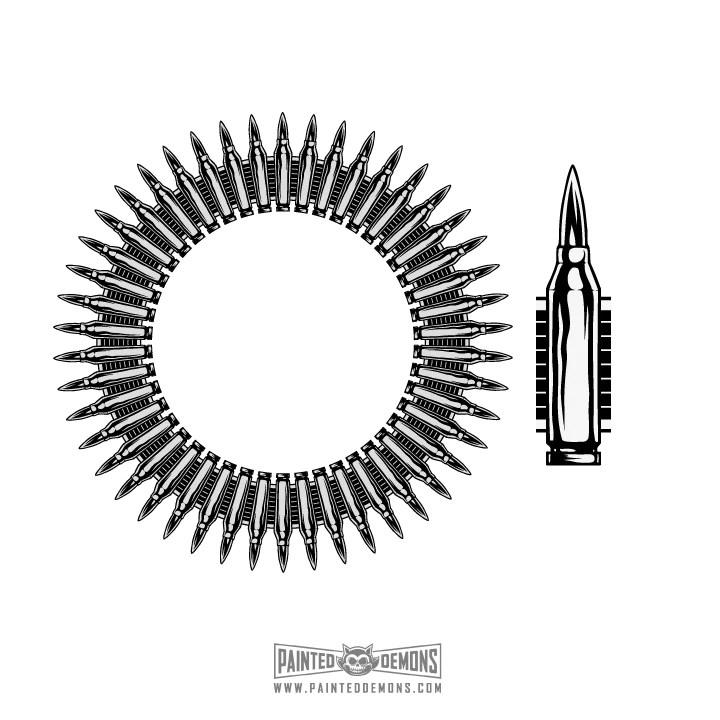 bullet vector art painted