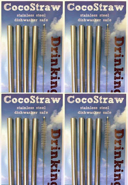 kitchen drain cleaner island bar height stainless steel drinking straw - straight style – rawnori.com