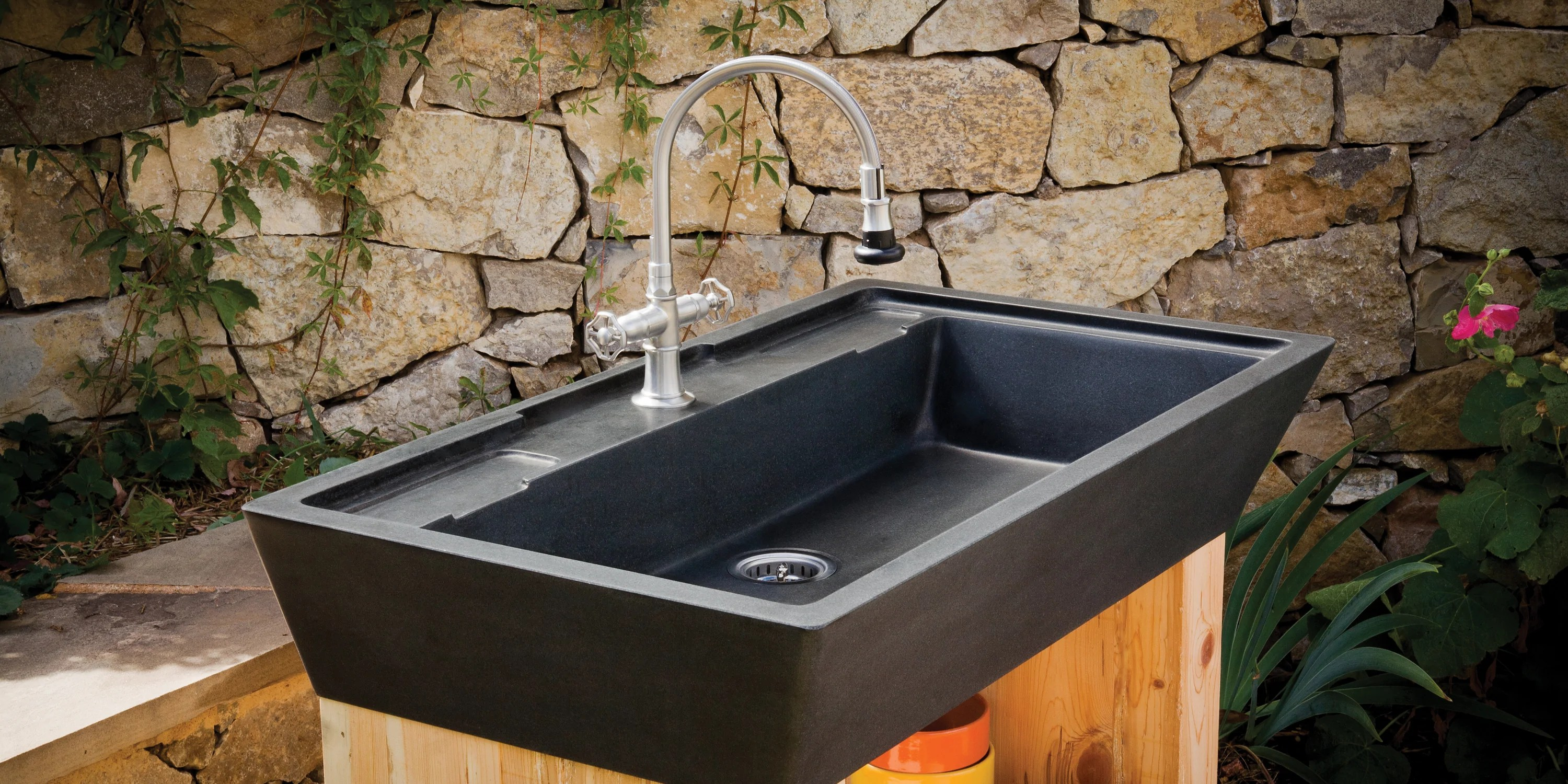 stone kitchen sink mobile rental sinks marble granite forest