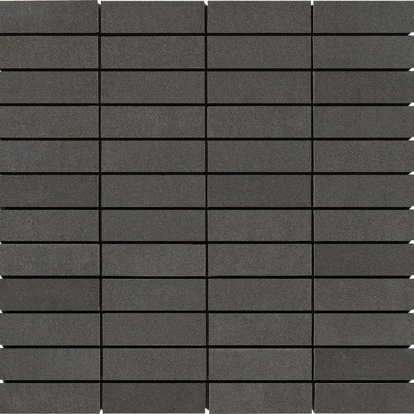 1 x 3 Light Gray Basalt Honed Mosaic Tile  DEKO Tile
