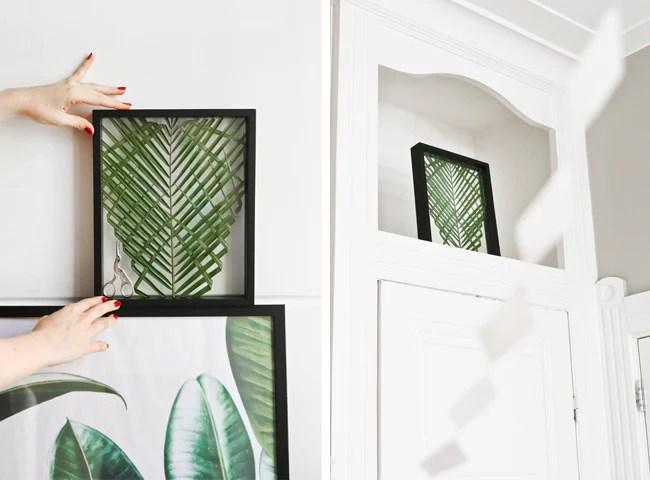 DIY Projects Framed Floating Palm Leaf Art  Ocean Blu