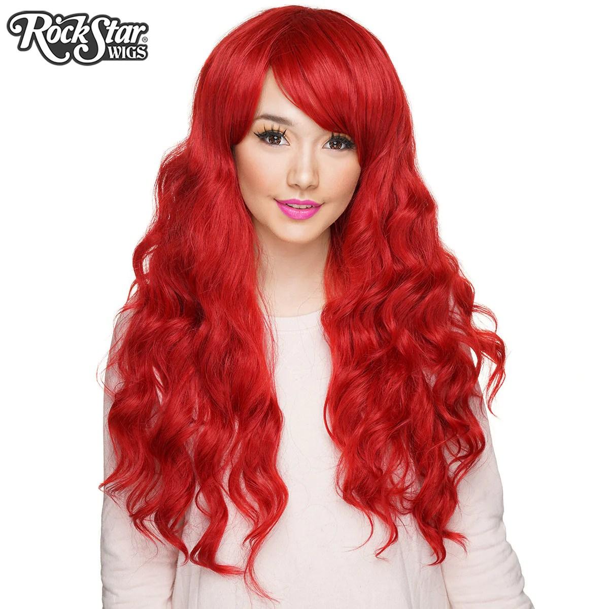 Gothic Lolita Wigs Classic Wavy Mermaid Lolita Collection  Crimson Red  Rockstar Wigs