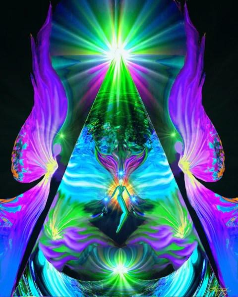 Chakra Healing Art Angel Wall Decor Reiki Healing Energy