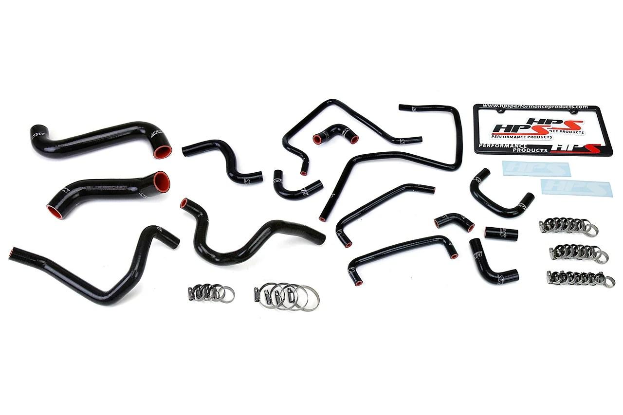 HPS Black Radiator Heater & Ancillary Hose Kit for Subaru