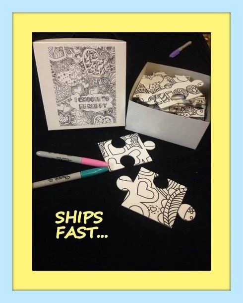 coloring book puzzle with