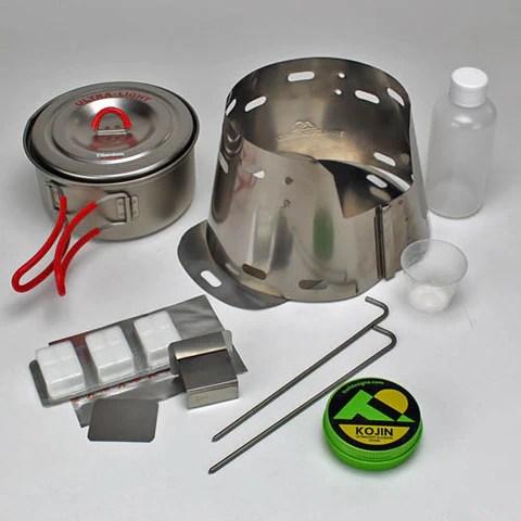 Trail Designs Sidewinder Ti-Tri + Toaks 900ml Pot Cooking System