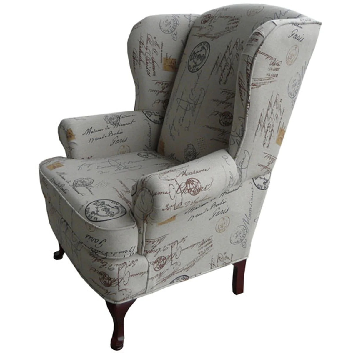 White Wing Chair 1860 Wing Chair
