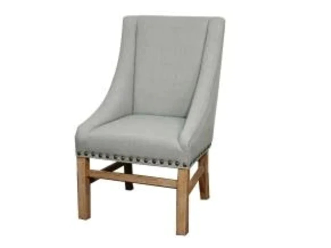 aaron sloping dining arm chair soft blue