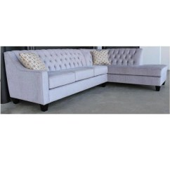 Custom Sectional Sofa Small Chaise Manhattan Tufted Corner Made In Canada Showhome Furniture