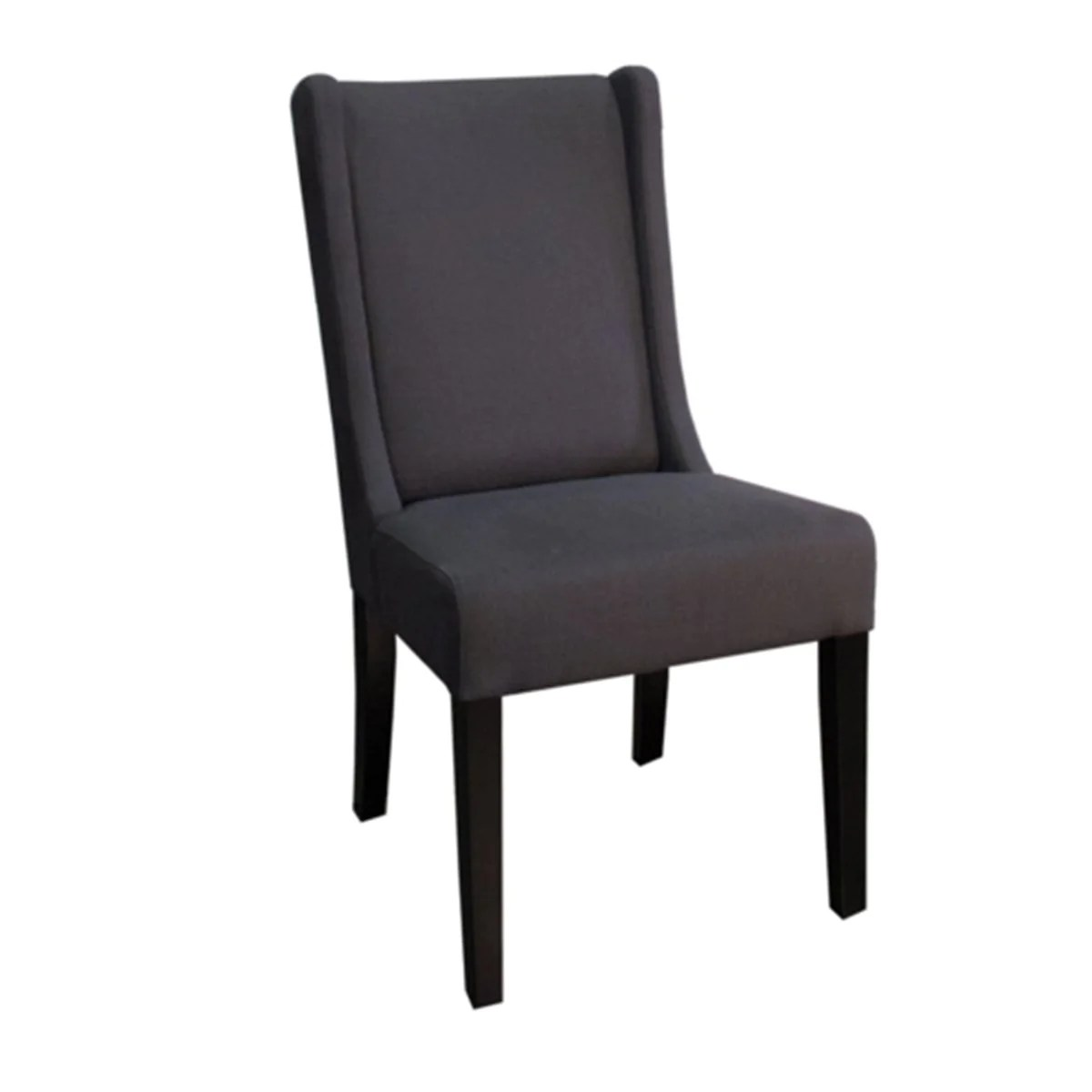 Tufted High Back Chair Non Tufted High Back Chair Graphite Fabric