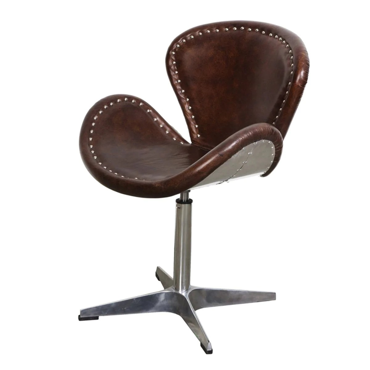 Vintage Swivel Chair Swivel Chair Brown Vintage Leather