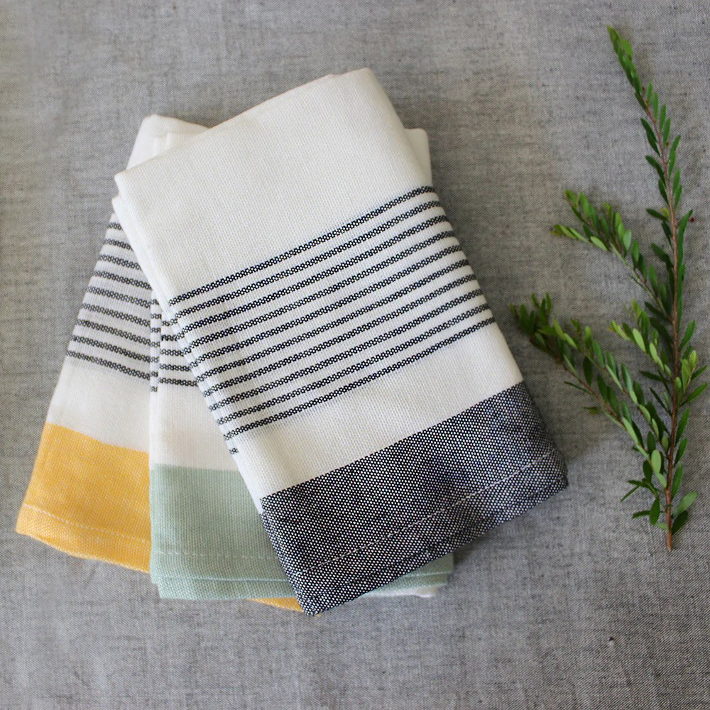 kitchen towel appliance garage kits bloc stripe textiles kara weaves towels