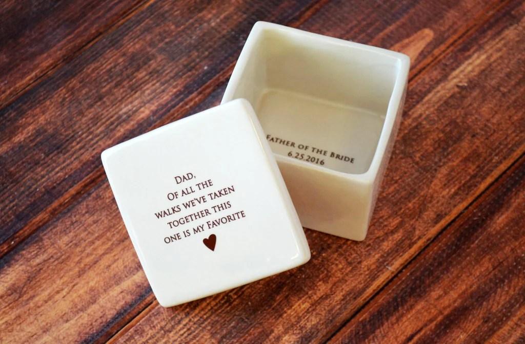 Unique Father Of The Bride Gift Deep Square Keepsake Box