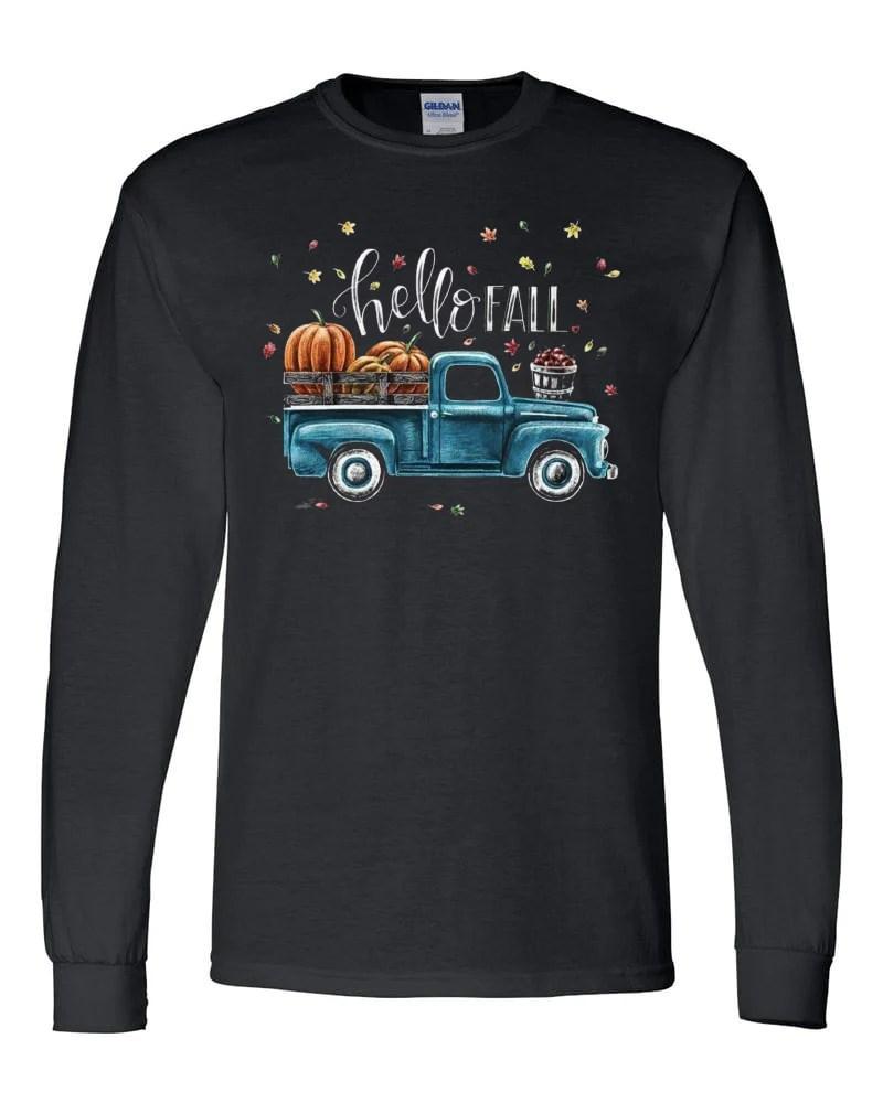 Pumpkin Truck Shirt  Black Tee  Southern Grace Creations
