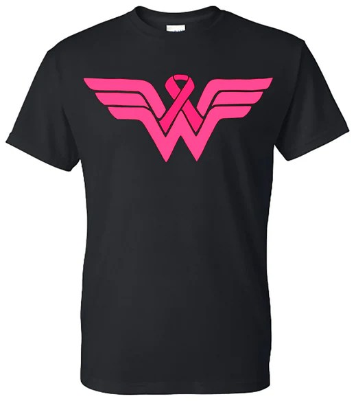 Wonder Woman Breast Cancer Tee  Southern Grace Creations