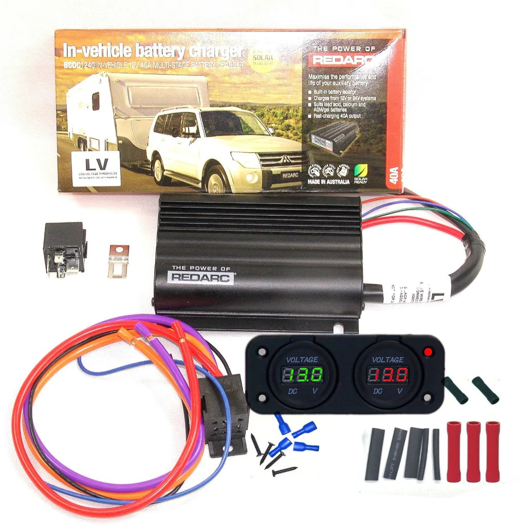 12v Wiring Diagram For Camper Redarc Bcdc 1240 Dual Battery System Dc To Dc Charger Mppt