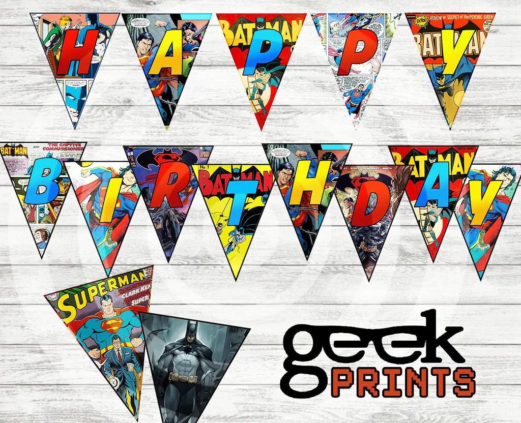happy birthday banner batman