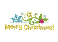 Merry Christmas Frame Machine Embroidery Designs on ...