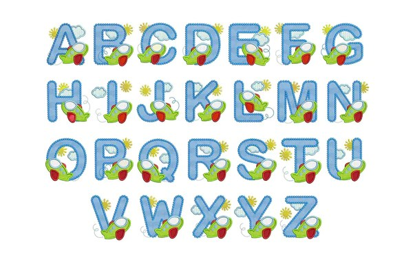 Airplane Applique Alphabet AL011 – Embroideryland