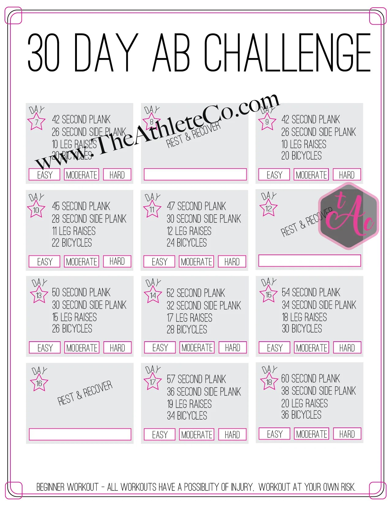 30 day ab workout