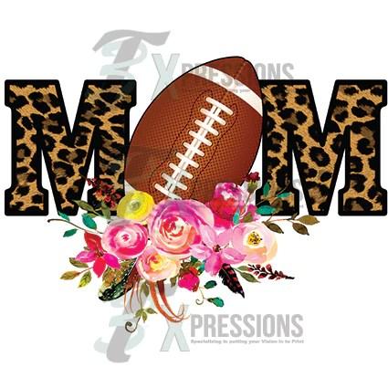Leopard floral football mom  3T Xpressions
