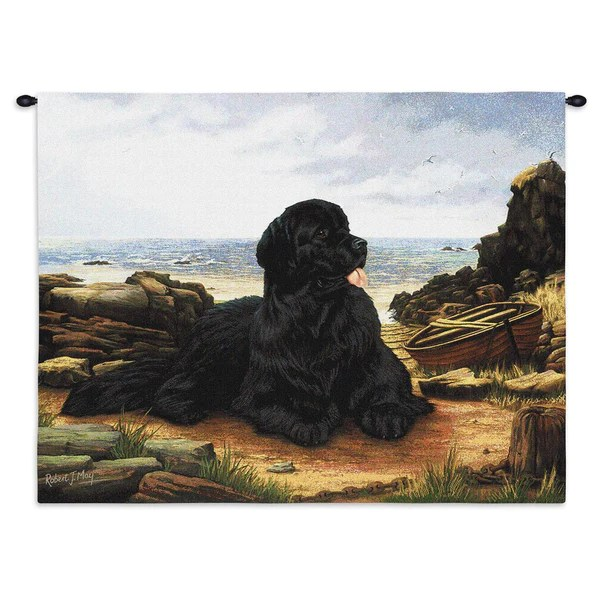 Stair Wall Art Newfoundland Dog Art Tapestry Wall Hanging
