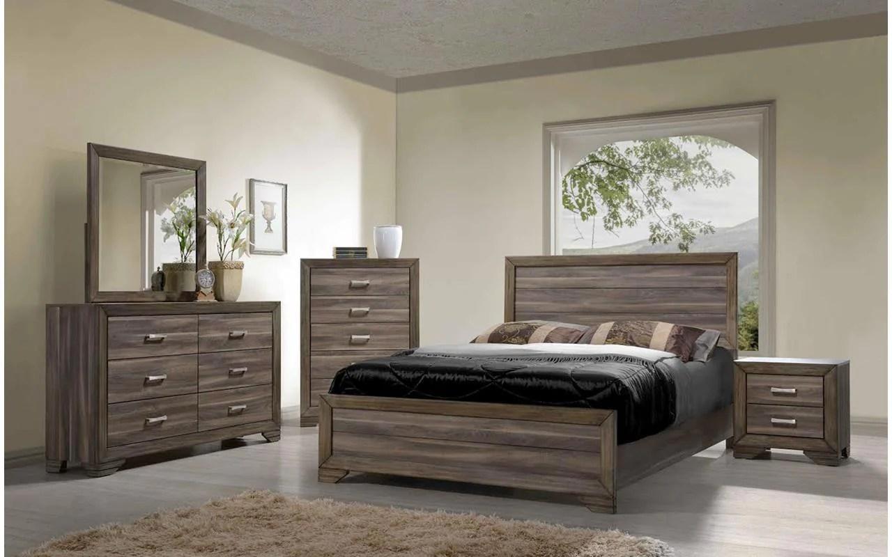 Asheville Driftwood King Bedroom Set  My Furniture Place