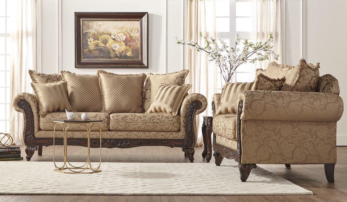 Momentum Khaki Sofa and Loveseat  My Furniture Place