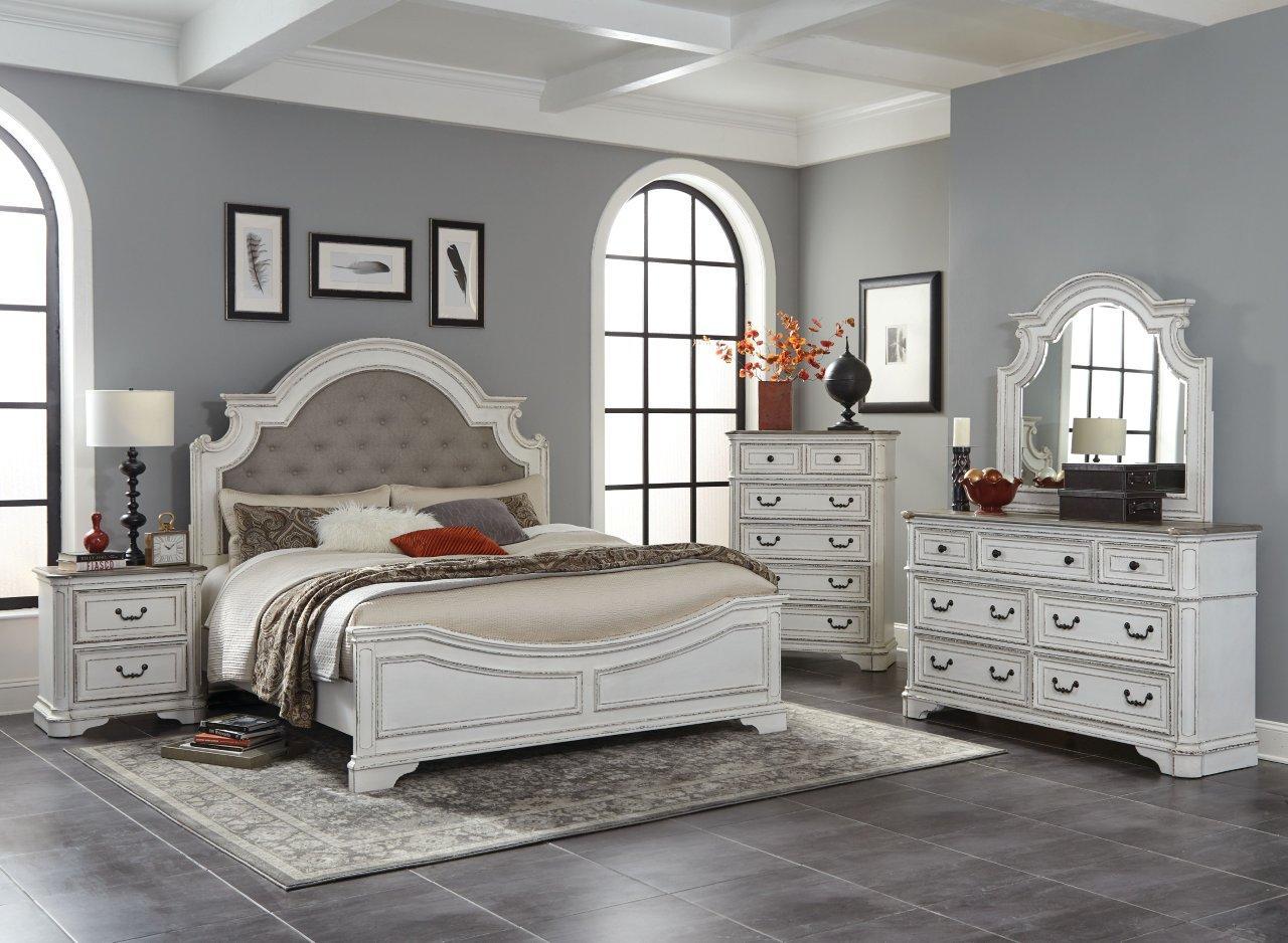 antique white oak king bedroom set