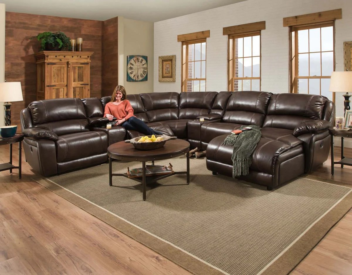 Corinthian Faulkner Chocolate Chaise Sectional  My Furniture Place
