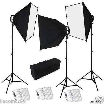 linco studio photography 4 sockets light w softbox lighting kit w ba linco inc