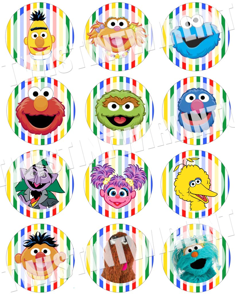 Sesame Street Birthday Party Printables Twistin Twirlin Tutus