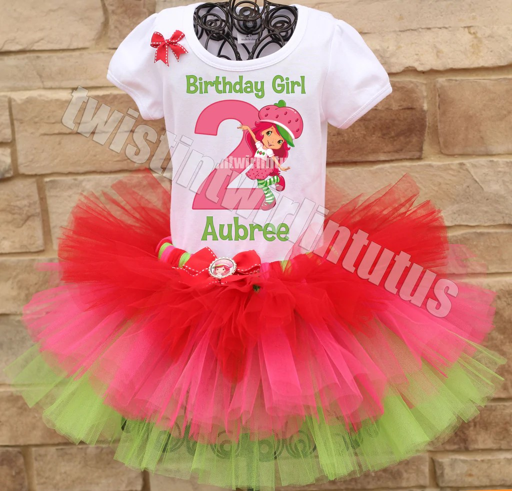 Strawberry Shortcake Birthday Tutu Twistin Twirlin Tutus