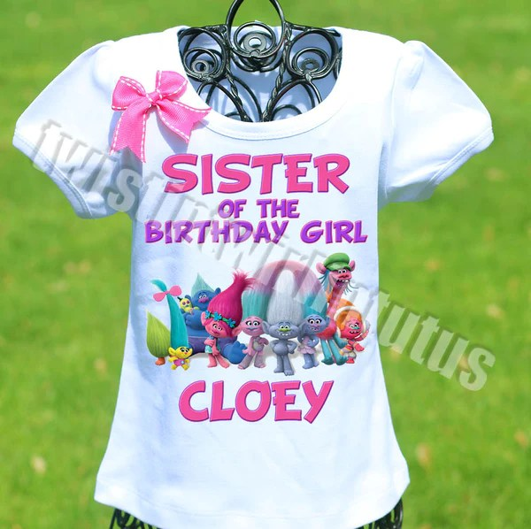 Trolls Birthday Shirt Family Set Twistin Twirlin Tutus