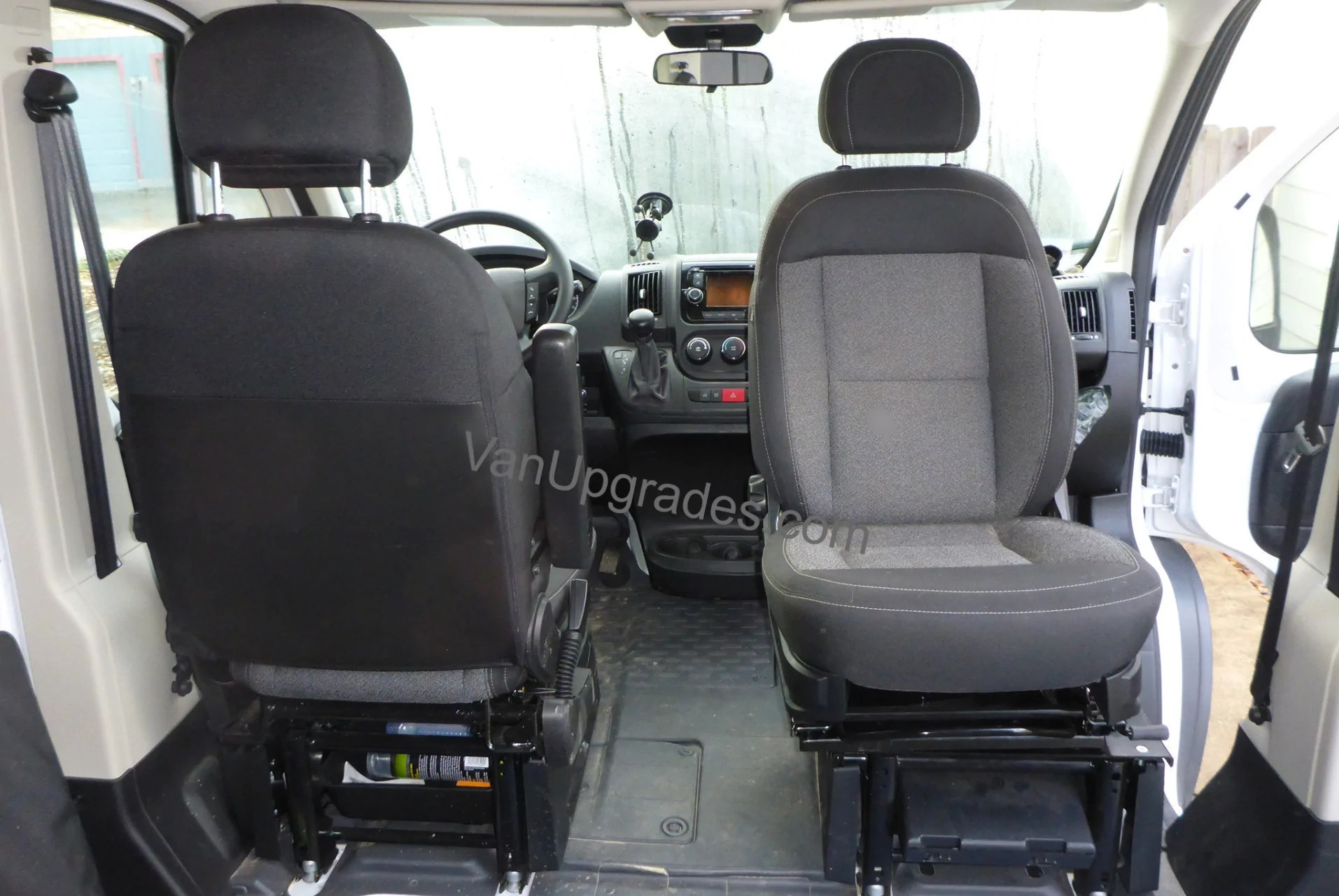 swivel chair mercedes sprinter wheelchair equipment promaster seat base adapter with offset pivot  van